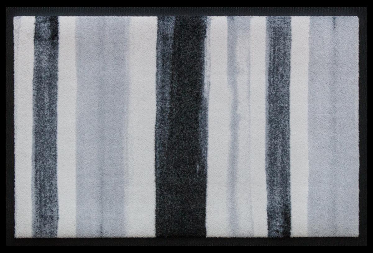 Fußmatte Blockstreifen Grau