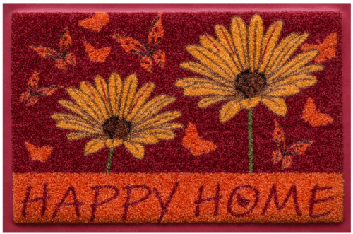 Fußmatte Happy Home
