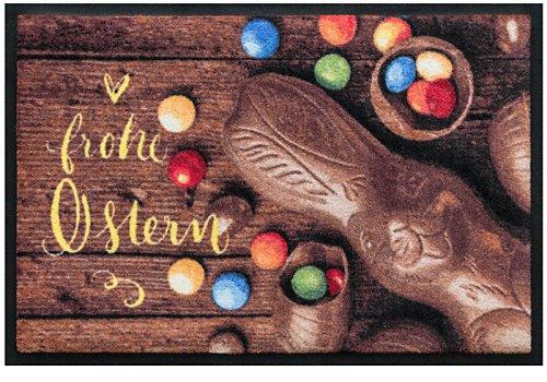Fußmatte Frohe Ostern in Schreibschrift