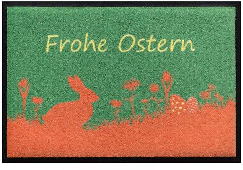 Fußmatte Frohe Ostern mit Osterhasen