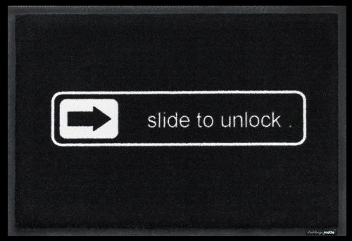 Fußmatte slide to unlock