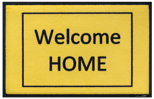 Fußmatte welcome home