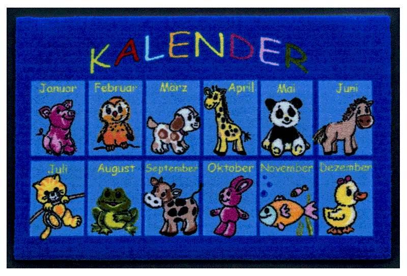 Fußmatte Monatskalender für Kinder