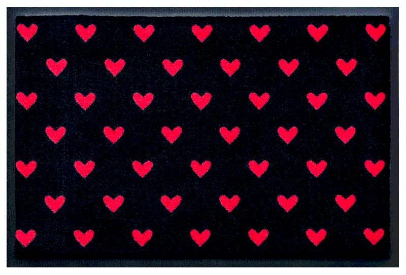 Fußmatte Rote Herzchen