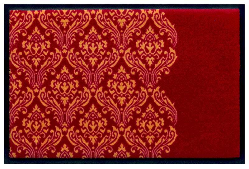 Fußmatte Ornament auf Rot