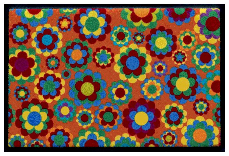 Fußmatte Flowerpower 1