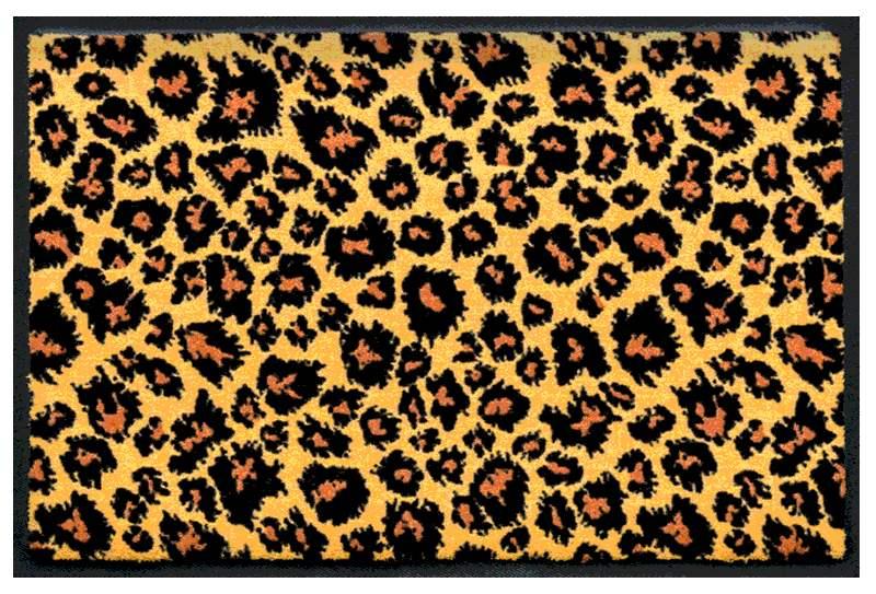 Fußmatte Matte mit Leo-Print 1