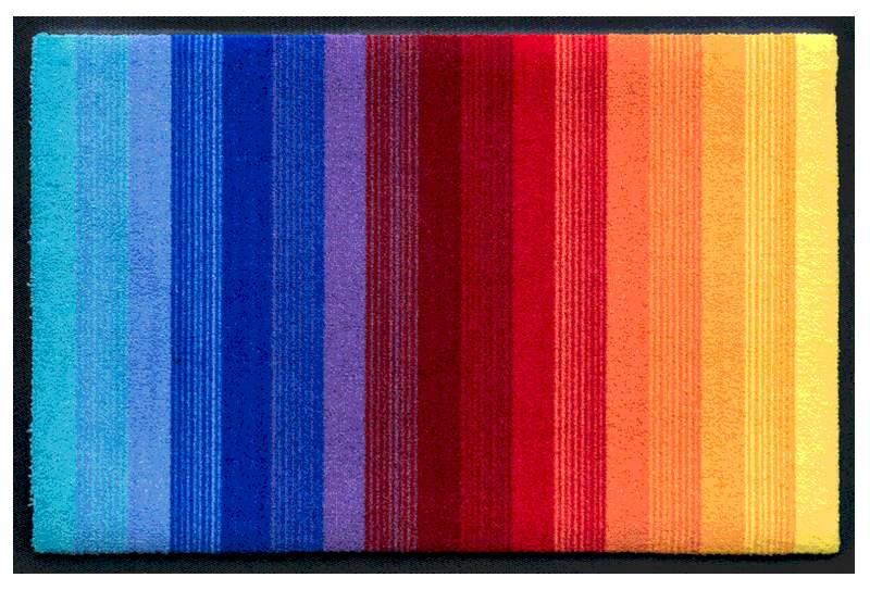 Fußmatte Regenbogenfarben längs