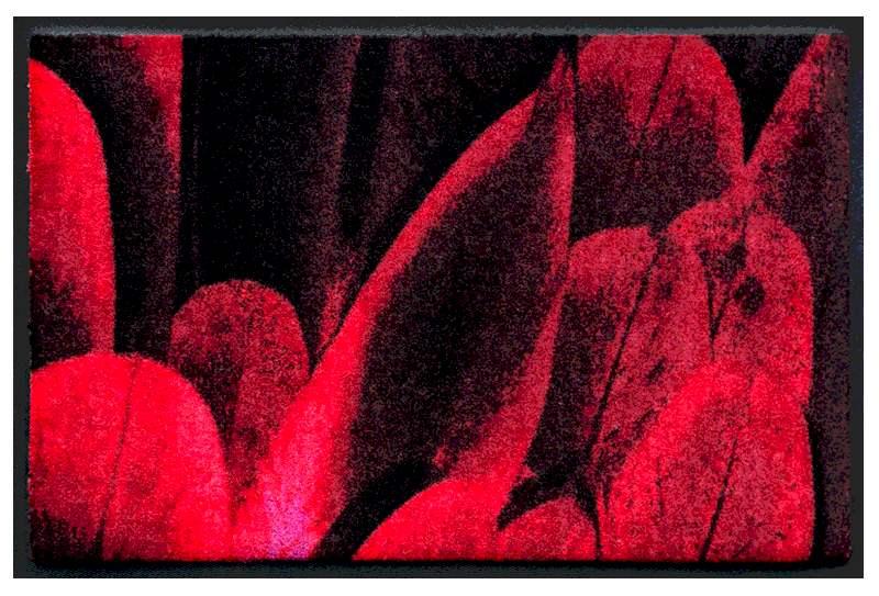 Fußmatte Fantasie-Motiv Rot-Schwarz