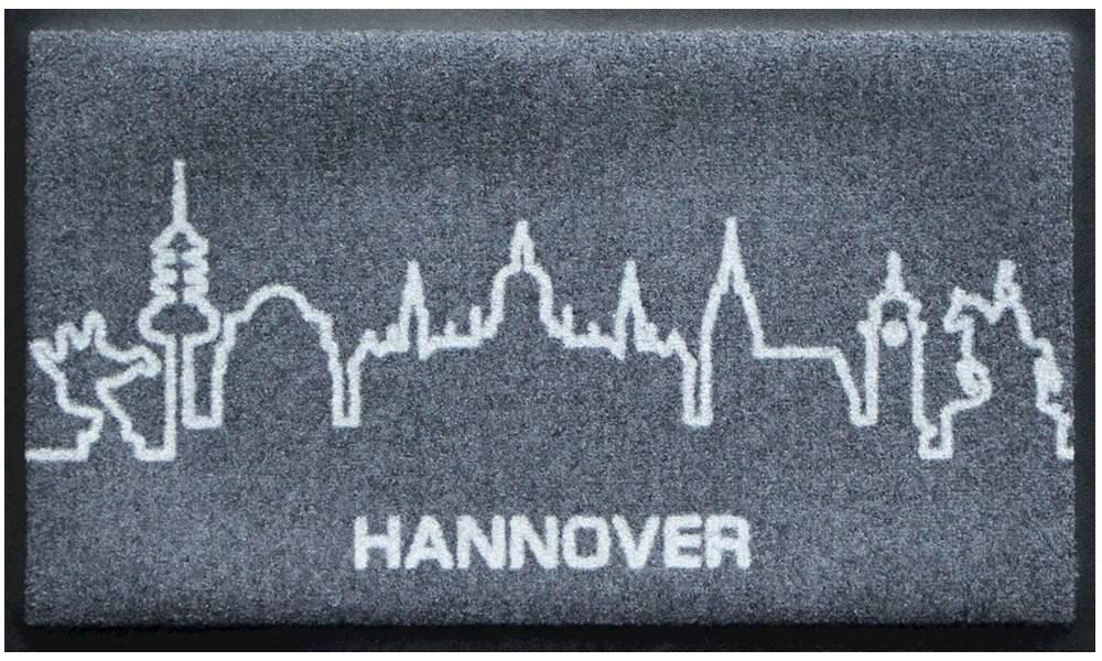 Fußmatte Skyline Hannover (grau)