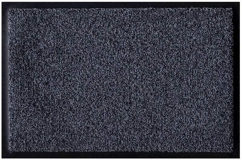 Fußmatte Topas blaugrau-schwarz