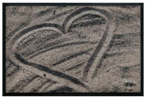 Fußmatte Herz Sand