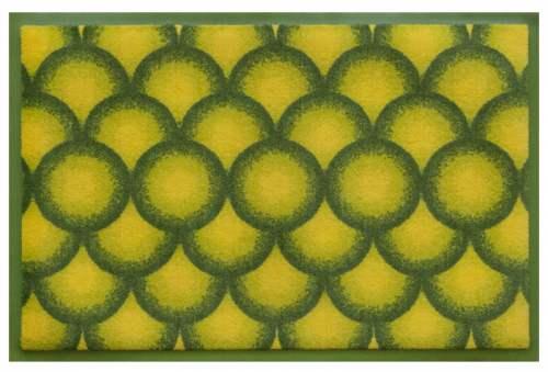 Fußmatte Kreise 3D Gruen C
