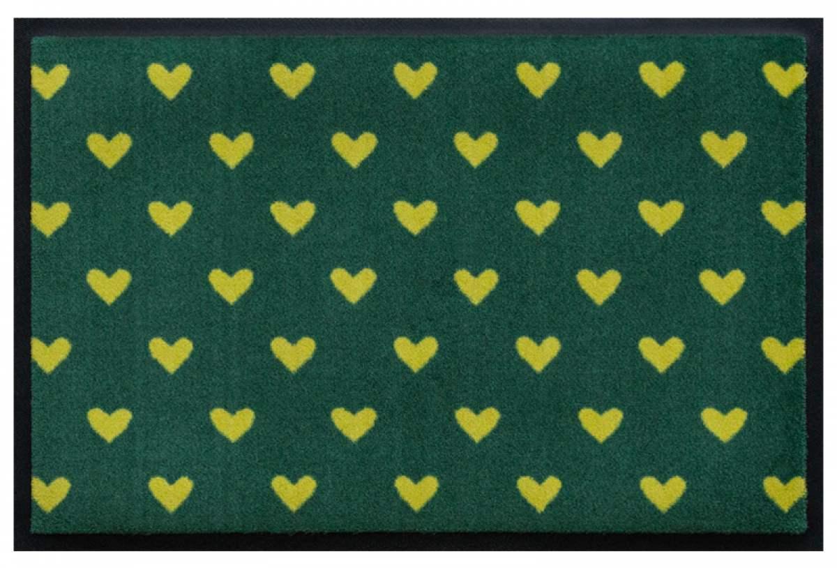 Fußmatte Gelbe Herzen