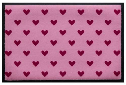 Fußmatte Herzen auf Rosa
