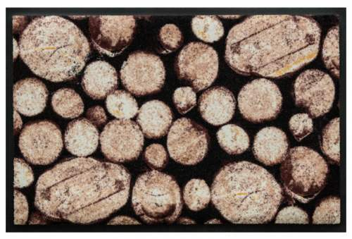 Fußmatte Baumscheiben Braun