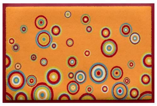 Fußmatte Lieblingsmatte Bunte Kreise auf Orange 60x40
