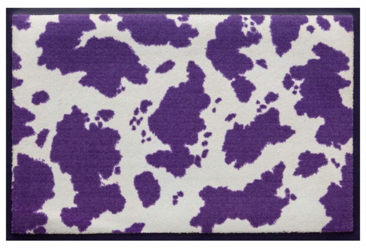 Fußmatte Kuhflecken lila