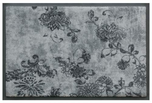 Vintage Flowers Dark Grey