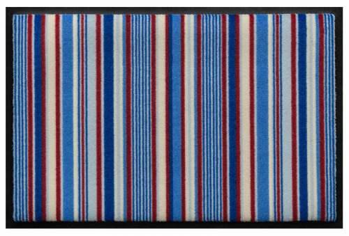 Fußmatte Längsstreifen Blau