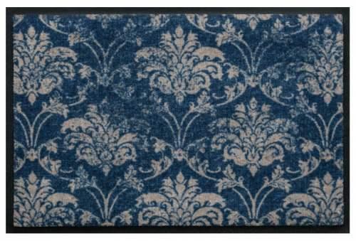 Fußmatte Ornament Vintage Blaugrau