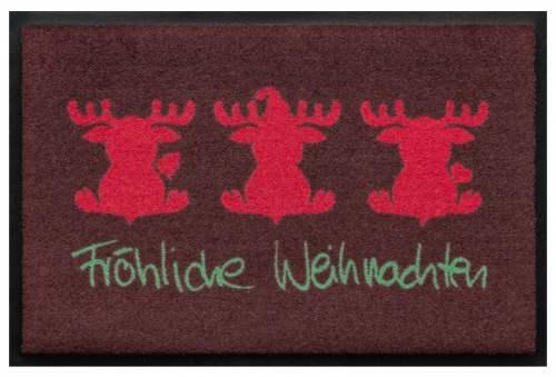 Fußmatte Fröhliche Weihnachten Elche