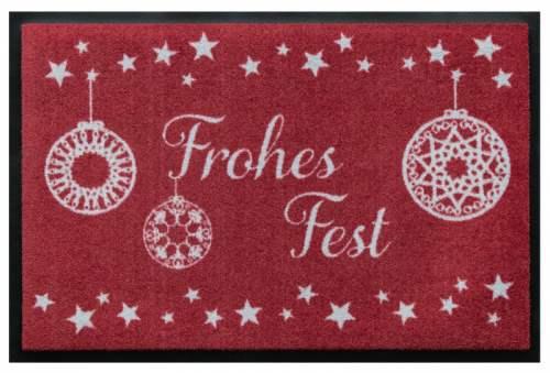 Fußmatte Frohes Fest Rot