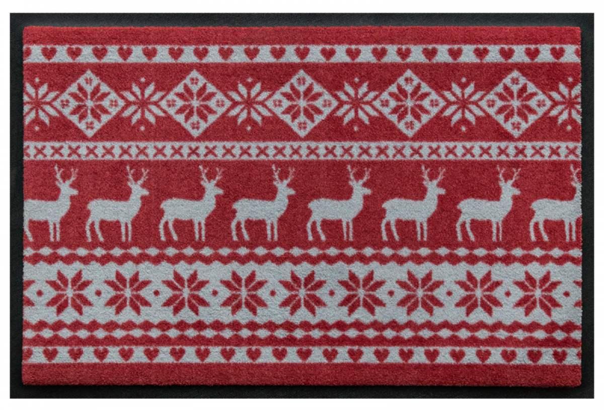 Norweger Hirschmuster Rot