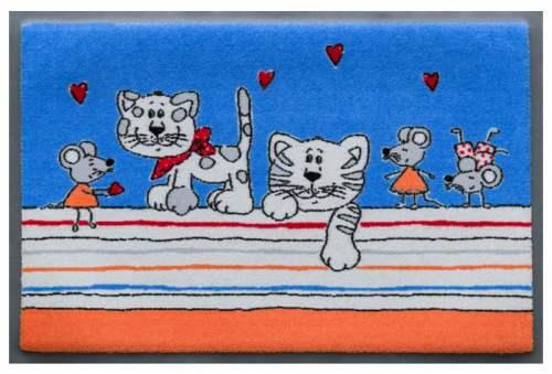 Fußmatte Katzen und Mäuse Comic 1