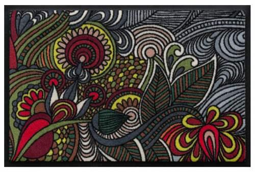 Fußmatte Blütenmandala 1