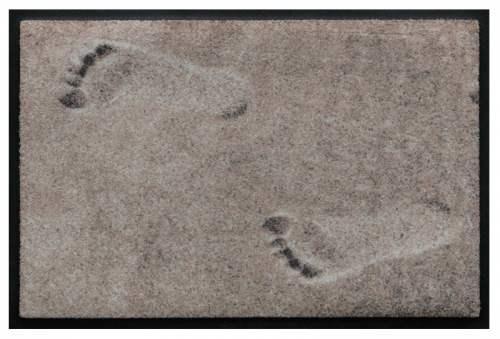 Fußmatte Fußspuren