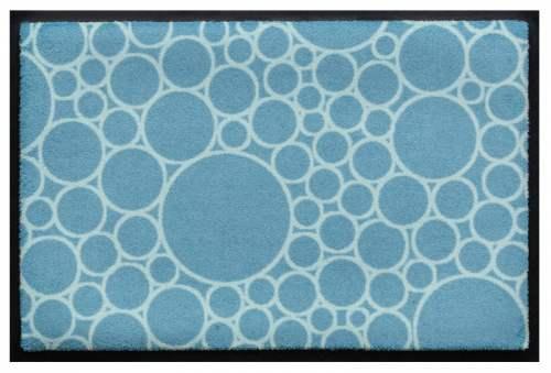 Fußmatte Bubble Kreise Blau