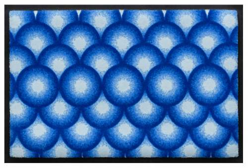 Fußmatte Kreise 3D Blau
