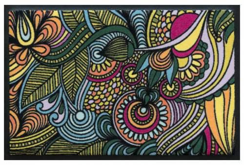 Fußmatte Blütenmandala 4