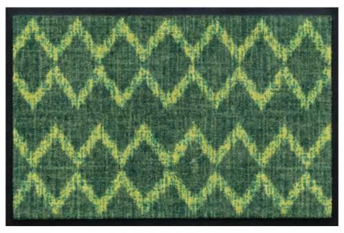 Fußmatte Zickzack grün