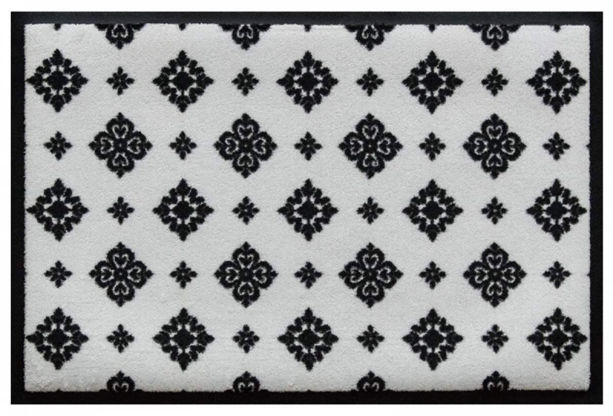 Fußmatte Ornament auf Weiß