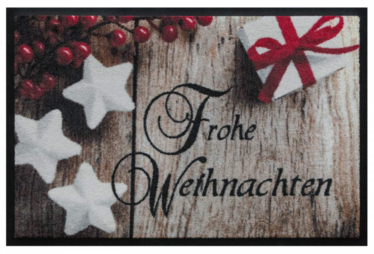 Fußmatte Frohe Weihnachten in Schreibschrift